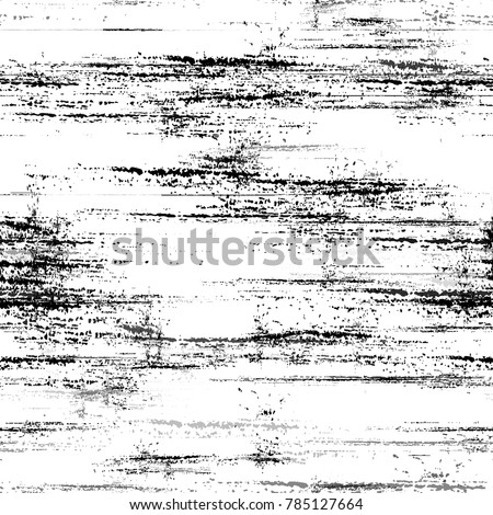 Distressed Black and White Grunge Seamless Texture. Hand Drawn Old Scratched Seamless Pattern. Watercolor Splatter Style Texture. Plaster, Ink Paint Print Design Pattern.