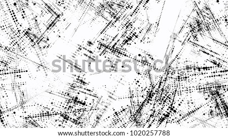 Distressed Black and White Grunge Seamless Texture. Vintage Dirty Dotted Seamless Pattern. Dirty Weathered Style Texture. Grainy Print Design Background.