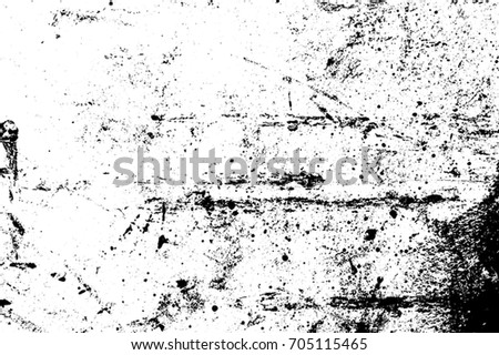 Distressed black overlay grainy texture. Grunge dark messy sandy background. Dirty empty dust cover template. Used Ink brushed renovate wall backdrop. Insane aging design element. EPS10 vector.