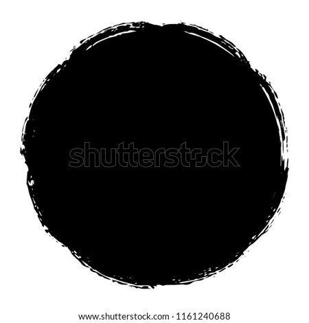 Distressed Circle Stamp Vector Black Color Overlay Textures. Thin And Bold Grunge distress Template background For your design. EPS10 vector. #1161240688