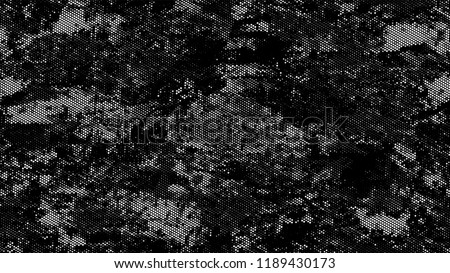 Distressed Grunge Dotted Texture. Retro Spotted Pattern. Overlay Grainy Style Texture. Black and White Broken, Spotted Print Design Background. #1189430173