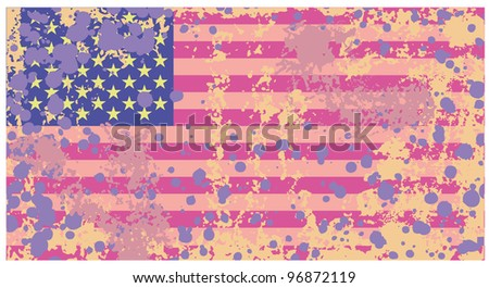 Distressed grunge Usa flag in rusty colors