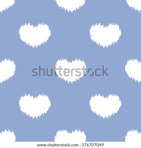 distressed hearts pattern