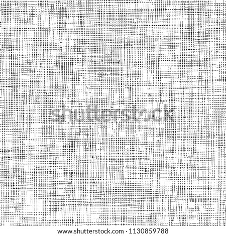 Distressed linen texture. Detail. Vector illustration.