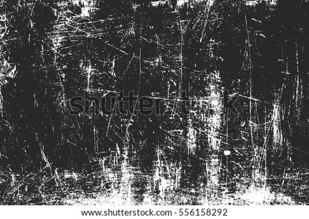 Distressed overlay texture of rusted peeled metal. grunge background. abstract halftone vector illustration #556158292