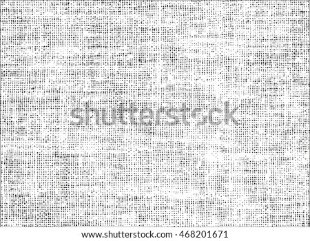 Distressed overlay texture of weaving fabric. grunge background. abstract halftone vector illustration #468201671