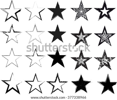 distressed splash star design