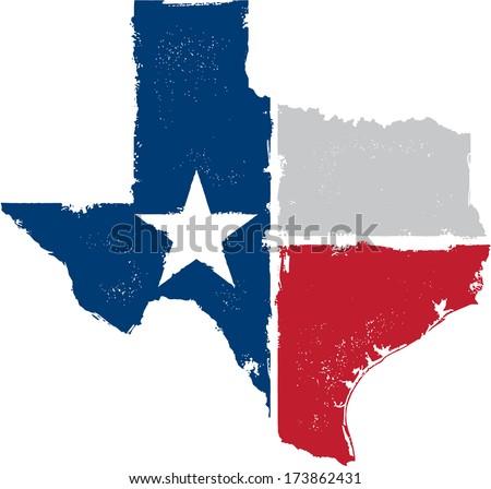 Distressed Texture Texas State Icon