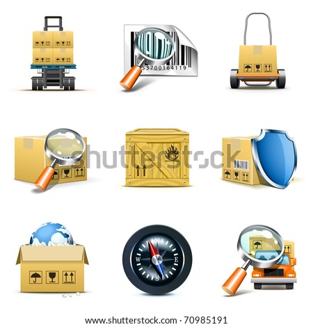 Distribution and shipping icons   Bella series