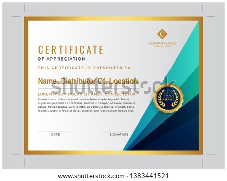 Distributor Certificate and golden certificate