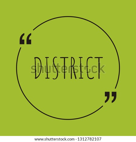 district word concept