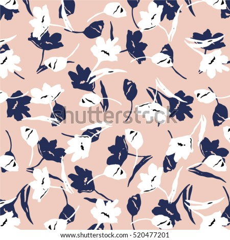 Ditsy floral pattern, seamless in vector.