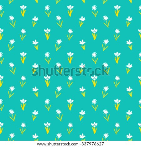 ditsy spring floral pattern