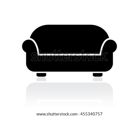 Divan vector icon vector illustration isolated on white background