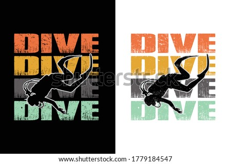 dive dive dive vintage t-shirt design.Cuba diving t-shirt design
