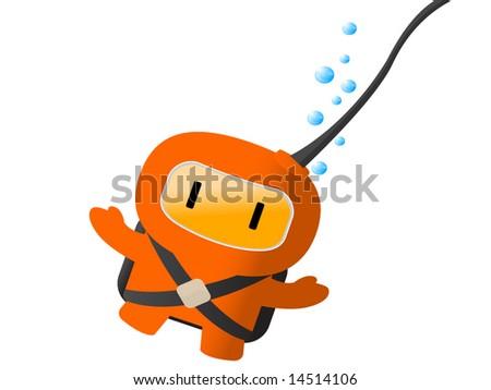 Stock Vector Diver Vector