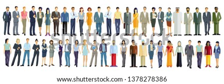 Diverse Crowd, Business Connection