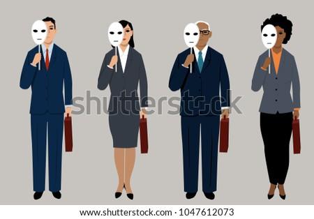 diverse job candidates hiding