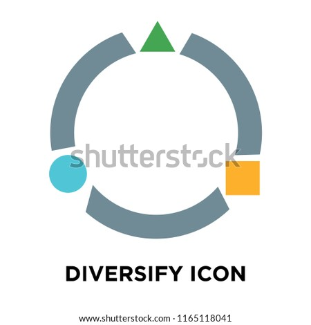 Diversify icon vector isolated on white background, Diversify transparent sign Stock photo ©