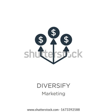 Diversify icon vector. Trendy flat diversify icon from marketing collection isolated on white background. Vector illustration can be used for web and mobile graphic design, logo, eps10 Stock photo ©