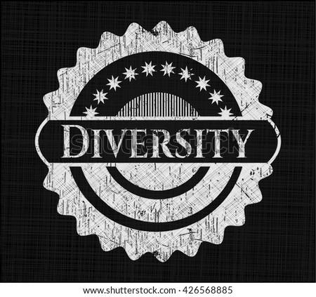 Diversity chalk emblem
