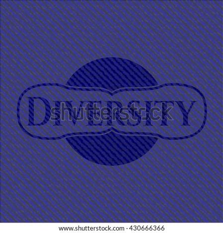 Diversity emblem with denim texture