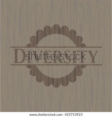 Diversity retro wood emblem