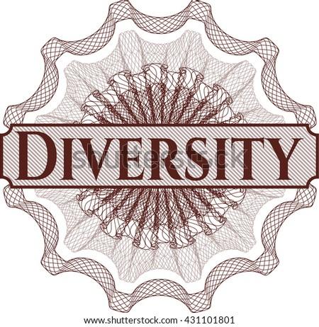 Diversity rosette or money style emblem