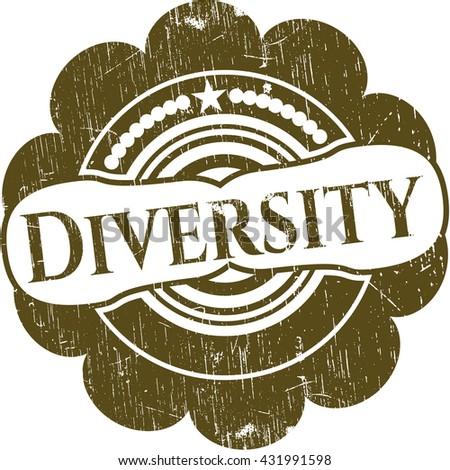 Diversity rubber grunge texture stamp