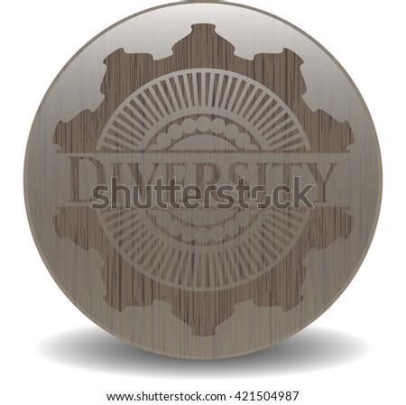 Diversity vintage wooden emblem