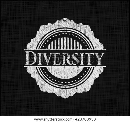 Diversity written with chalkboard texture