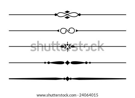 Vector images illustrations and cliparts dividers and accents 1 five decorative lines thecheapjerseys Gallery