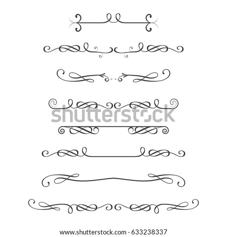 Dividers set,isolated on white background,stock vector illustration
