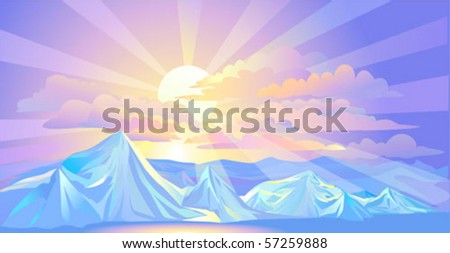Divine Sunrays and Himalayan snow