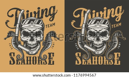 diving apparel design with