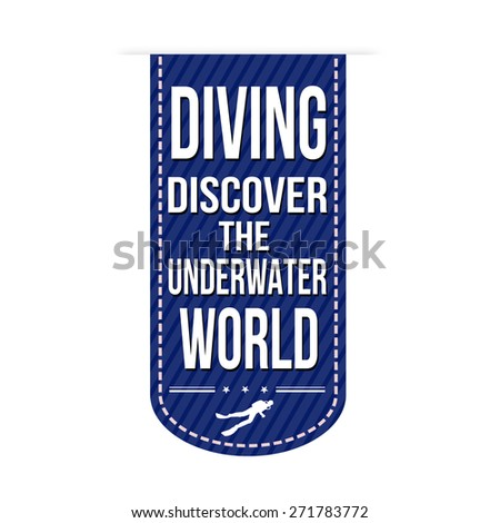 diving banner design over a