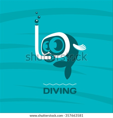 diving fish diver mask with