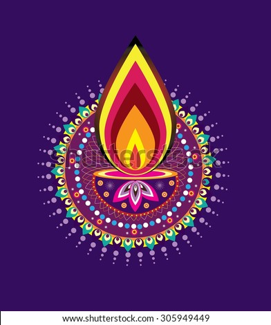 royaltyfree diwali candle light indian new year