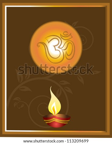 Diwali diya greeting