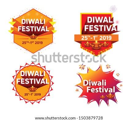 diwali festival offer discount unit vector