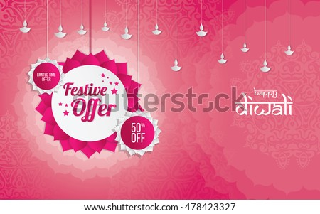 Diwali festival Offer Template