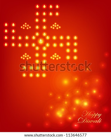 diwali festival vector background