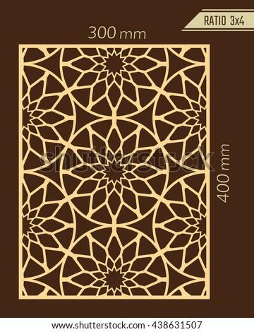 royalty free diy laser cutting pattern woodcut 439096498 stock