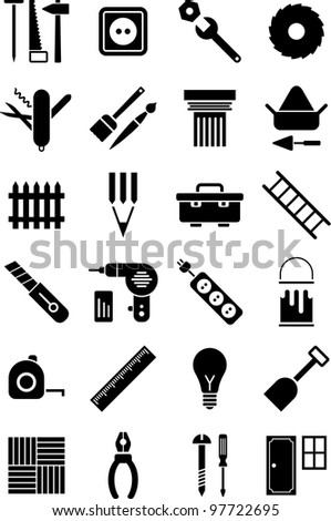 DIY tools icons