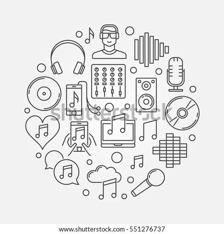 dj concept linear illustration