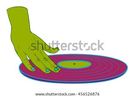 dj hand  psychedelic  music