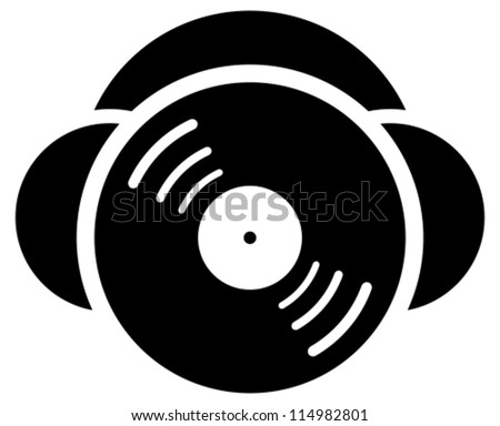DJ icon - stock vector