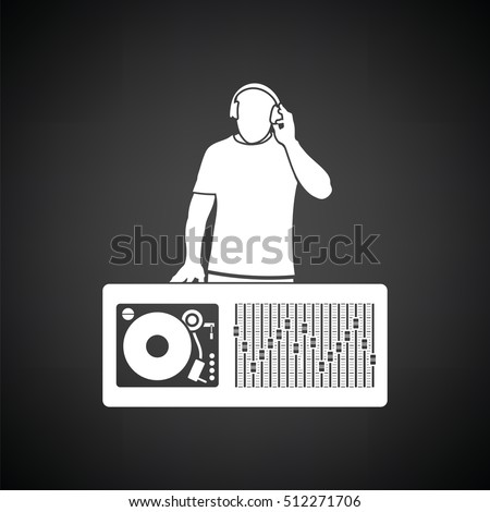 dj icon black background with
