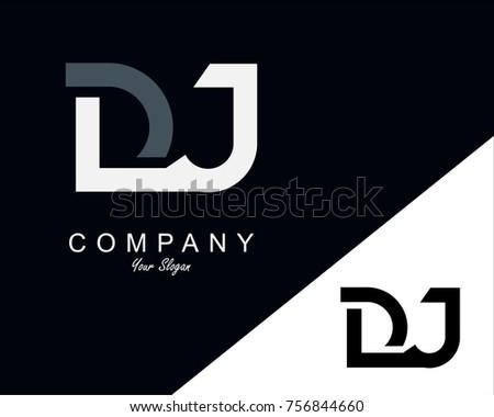 DJ Letter Logo Design Template