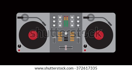dj mixer flat design for your